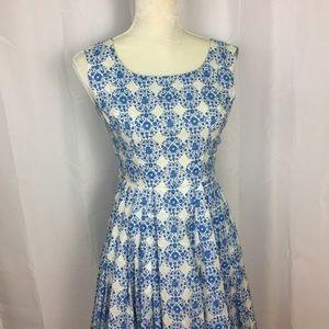 True vintage 1950s cotton floral dress XS